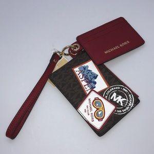 Nice Michael Kors Card Case & Wristlet Duo